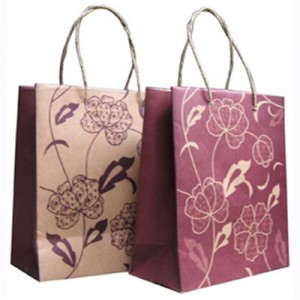 tas kertas motif bunga merah 60